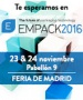 EMPACK MADRID from 22 until 23 Noviembre 2016, Stand C32.