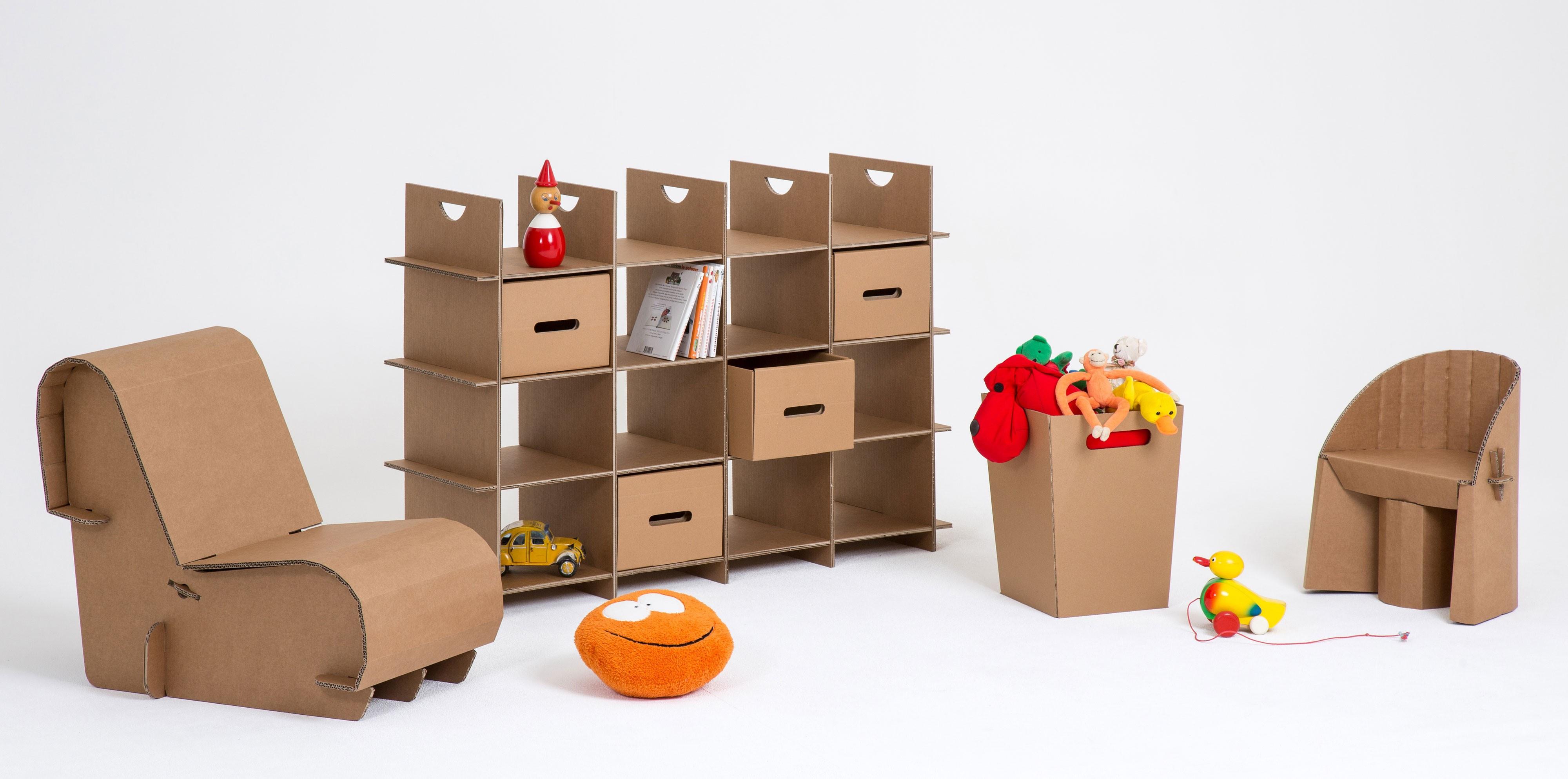Mobilier carton objets de d coration for Mobilier bureau ecologique
